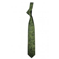 Krawat myśliwski -myśliwy na polowaniu