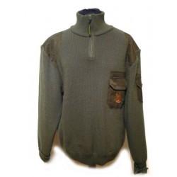 Sweter myśliwski golf + krótki zamek