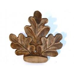 Liść dębu-drewno